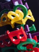 Alphabet letters from plastic — Stock Photo