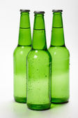 Green bottles. Three bottles — Stock Photo
