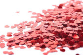 Hearts confetti. Red hearts — Stock Photo