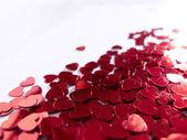 Lot of hearts confetti — Stock Photo