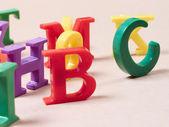 Plastic alphabet letters — Stock Photo