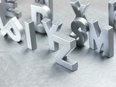 Silver letters — Stock Photo