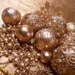 Gold christmas balls — Stock Photo #30352955