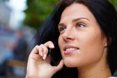 Woman with mobile phone — Stock Photo