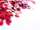 Hearts confetti — Stock Photo