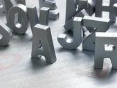 Srebrne litery — Zdjęcie stockowe