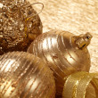 Gold christmas balls — Foto Stock #30702113