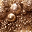 Gold christmas balls — Stock Photo #30702501