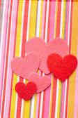 Сердца на день Валентина — Стоковое фото