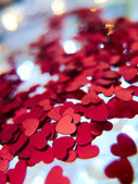Hearts confetti — Stockfoto