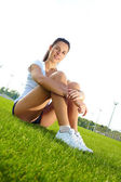 Young woman do sport — Stock Photo