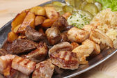 Meat with cabbage and potatoes — Stock Photo