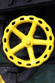 Old yellow valve — Stock Photo