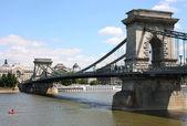 цепной мост в будапеште, венгрия — Стоковое фото