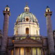 Karlskirche (St. Charles Cathedral) at dusk in Vienna, Austria — Stock Photo #12597608