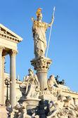 La fontana di athena e del parlamento austriaca a vienna, austria — Foto Stock