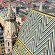Panorama of Vienna, aerial view from Stephansdom cathedral, Vien — Stock Photo
