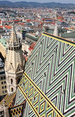 Panorama of Vienna, aerial view from Stephansdom cathedral, Vien — ストック写真