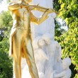 The statue of Johann Strauss in Stadtpark, Vienna, Austria — Stock Photo