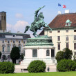 Monument Archduke Charles (Erzherzog Karl) on Heldenplatz in Vie — Stock Photo