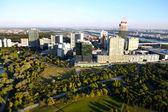 View on skyline Uno City Vienna from Donauturm tower, Austria — Stock Photo