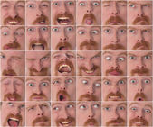 Details of large facial expressions — Stock Photo