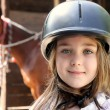 Little girl and brown Horse — Stock Photo #25525771