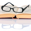 Book and eyeglasses — Stock Photo #2741498