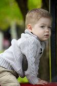 2 years old Baby boy on playground  — Stock Photo