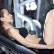 Exercises to strengthen the muscles of the legs — Stock Photo