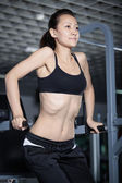 Exercises to strengthen the abdominal muscles — Stock Photo
