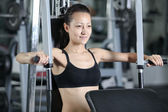 Training in the gym — Stock Photo