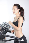 On the treadmill — Stock Photo