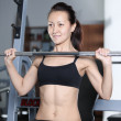 Barbell exercises — Stock Photo