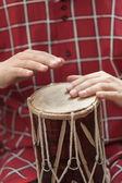 Knocking on the drum — Stock Photo
