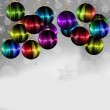 Rainbow Christmas ball — Stock Photo