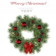 Christmas decoration wreath isolated on white background — Lizenzfreies Foto