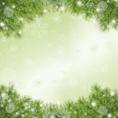 Christmas green framework — 图库照片