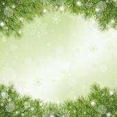 圣诞绿色框架 — 图库照片