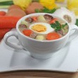 Traditional polish white borscht — Stock Photo #14053961