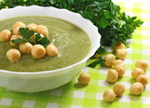 Vegetable soup with broccoli, — Stock Photo