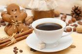 姜饼人咖啡 — 图库照片