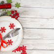 Christmas table setting — Stock Photo #15731625