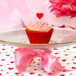 Valentine cupcake  — Stock Photo