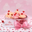 Valentine cupcake — Stock Photo #15731641