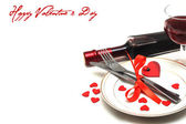 Valentine table setting — Stock Photo
