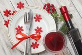 クリスマスのテーブルの設定 — ストック写真