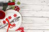 Christmas table setting — Foto Stock