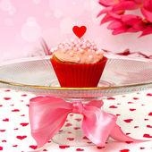 バレンタインのカップケーキ — ストック写真