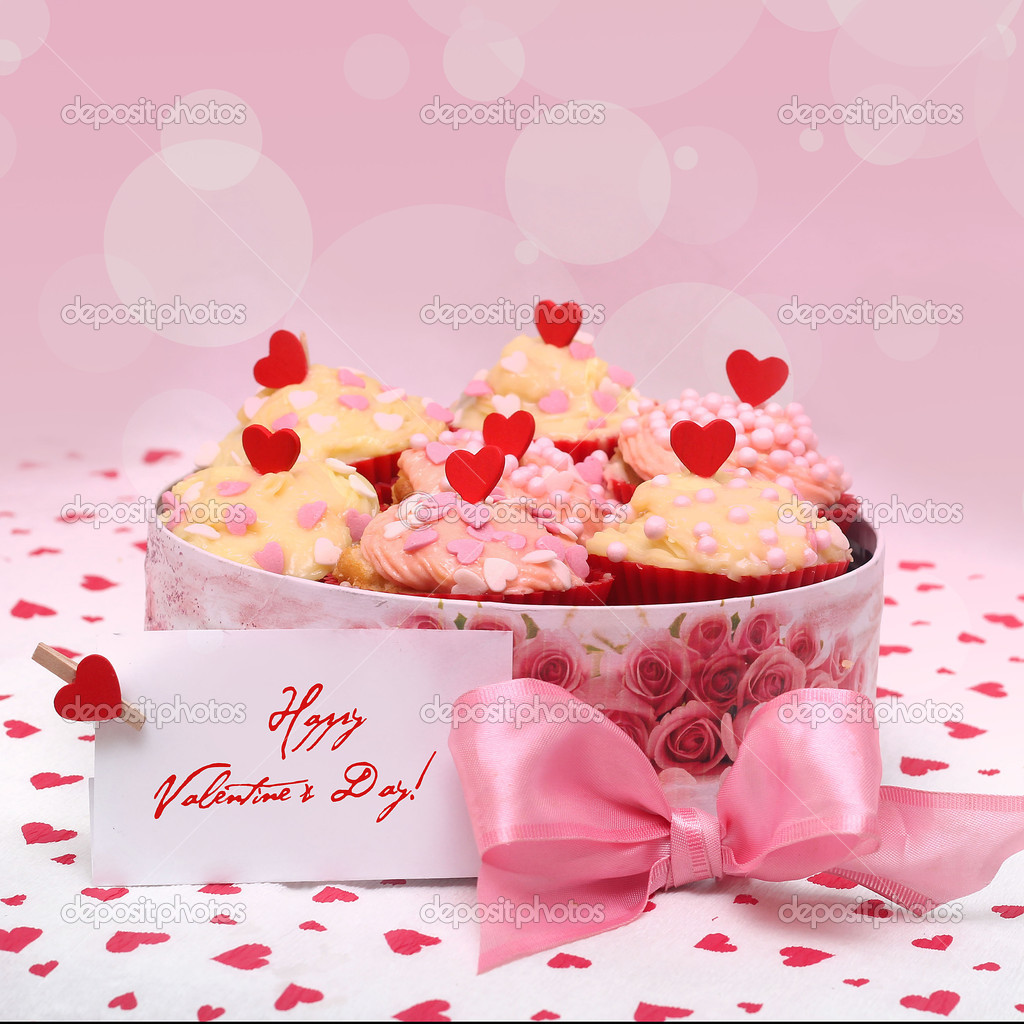 Valentine cupcake   Stock fotografie #15731641